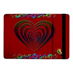 Red Heart Colorful Love Shape Samsung Galaxy Tab Pro 10 1  Flip Case