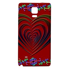 Red Heart Colorful Love Shape Galaxy Note 4 Back Case