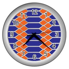 Pattern Design Modern Backdrop Wall Clocks (silver)  by Nexatart