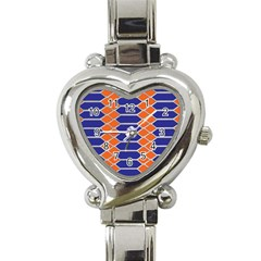 Pattern Design Modern Backdrop Heart Italian Charm Watch by Nexatart