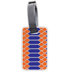 Pattern Design Modern Backdrop Luggage Tags (one Side)  by Nexatart