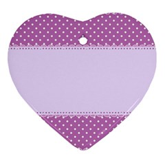 Purple Modern Heart Ornament (two Sides) by Nexatart