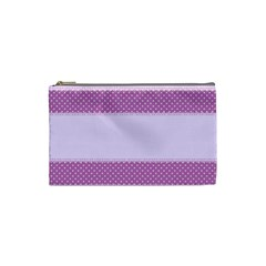 Purple Modern Cosmetic Bag (small)  by Nexatart