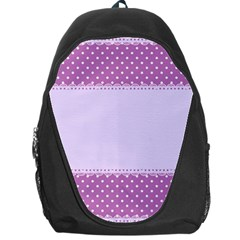 Purple Modern Backpack Bag by Nexatart