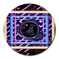 Abstract Sphere Room 3d Design Round Mousepads by Nexatart