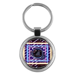 Abstract Sphere Room 3d Design Key Chains (round)  by Nexatart