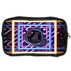 Abstract Sphere Room 3d Design Toiletries Bags