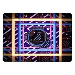 Abstract Sphere Room 3d Design Samsung Galaxy Tab 10 1  P7500 Flip Case by Nexatart