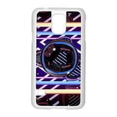 Abstract Sphere Room 3d Design Samsung Galaxy S5 Case (white) by Nexatart