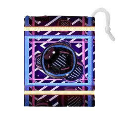 Abstract Sphere Room 3d Design Drawstring Pouches (extra Large) by Nexatart
