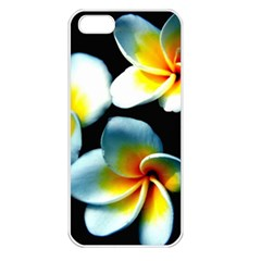 Flowers Black White Bunch Floral Apple Iphone 5 Seamless Case (white) by Nexatart