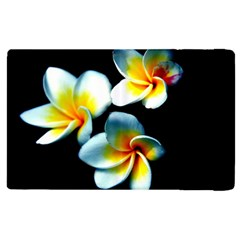 Flowers Black White Bunch Floral Apple Ipad 2 Flip Case by Nexatart