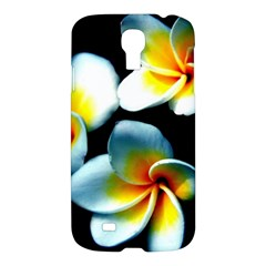 Flowers Black White Bunch Floral Samsung Galaxy S4 I9500/i9505 Hardshell Case