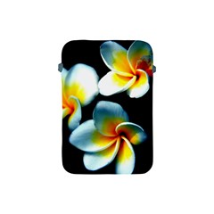 Flowers Black White Bunch Floral Apple Ipad Mini Protective Soft Cases by Nexatart