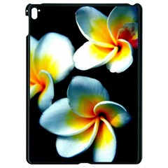 Flowers Black White Bunch Floral Apple Ipad Pro 9 7   Black Seamless Case by Nexatart