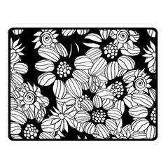 Mandala Calming Coloring Page Fleece Blanket (small) by Nexatart