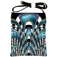 Abstract Art Design Texture Shoulder Sling Bags by Nexatart