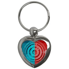 Vector Watch Texture Red Blue Key Chains (heart)  by Nexatart
