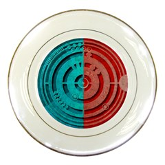 Vector Watch Texture Red Blue Porcelain Plates