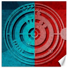 Vector Watch Texture Red Blue Canvas 20  X 20   by Nexatart