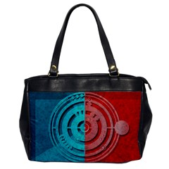Vector Watch Texture Red Blue Office Handbags by Nexatart