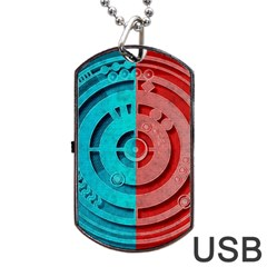 Vector Watch Texture Red Blue Dog Tag Usb Flash (two Sides)