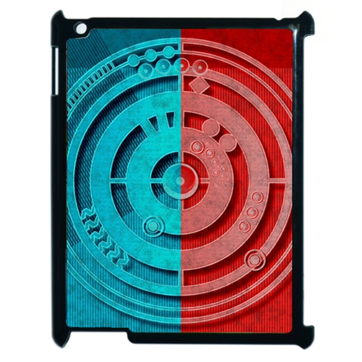 Vector Watch Texture Red Blue Apple iPad 2 Case (Black)