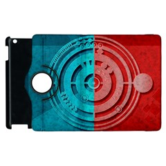Vector Watch Texture Red Blue Apple Ipad 3/4 Flip 360 Case