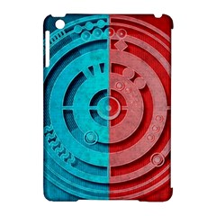 Vector Watch Texture Red Blue Apple Ipad Mini Hardshell Case (compatible With Smart Cover) by Nexatart