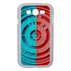 Vector Watch Texture Red Blue Samsung Galaxy Grand Duos I9082 Case (white)