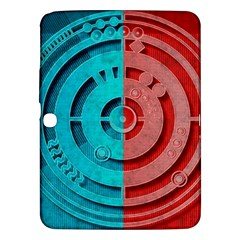 Vector Watch Texture Red Blue Samsung Galaxy Tab 3 (10 1 ) P5200 Hardshell Case  by Nexatart
