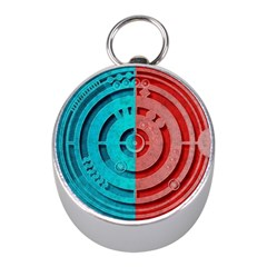 Vector Watch Texture Red Blue Mini Silver Compasses by Nexatart