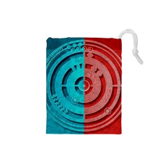 Vector Watch Texture Red Blue Drawstring Pouches (small)