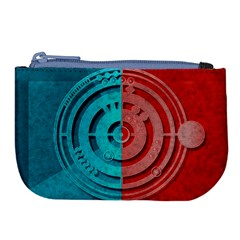 Vector Watch Texture Red Blue Large Coin Purse by Nexatart