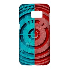 Vector Watch Texture Red Blue Samsung Galaxy S7 Hardshell Case  by Nexatart