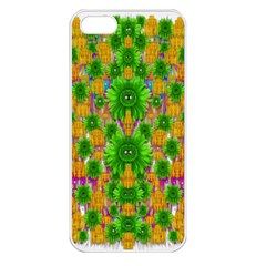 Jungle Love In Fantasy Landscape Of Freedom Peace Apple Iphone 5 Seamless Case (white) by pepitasart