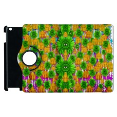 Jungle Love In Fantasy Landscape Of Freedom Peace Apple Ipad 3/4 Flip 360 Case by pepitasart