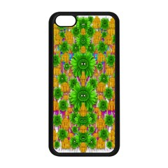 Jungle Love In Fantasy Landscape Of Freedom Peace Apple Iphone 5c Seamless Case (black) by pepitasart