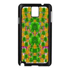 Jungle Love In Fantasy Landscape Of Freedom Peace Samsung Galaxy Note 3 N9005 Case (black) by pepitasart