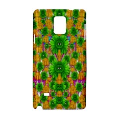 Jungle Love In Fantasy Landscape Of Freedom Peace Samsung Galaxy Note 4 Hardshell Case by pepitasart