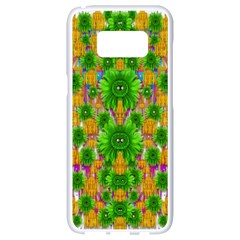 Jungle Love In Fantasy Landscape Of Freedom Peace Samsung Galaxy S8 White Seamless Case by pepitasart
