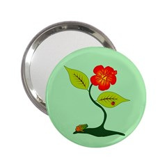 Plant And Flower 2 25  Handbag Mirrors by linceazul