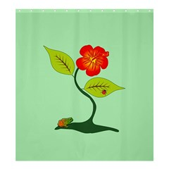Plant And Flower Shower Curtain 66  X 72  (large)  by linceazul