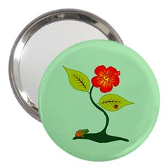 Plant And Flower 3  Handbag Mirrors by linceazul