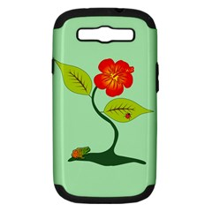 Plant And Flower Samsung Galaxy S Iii Hardshell Case (pc+silicone) by linceazul