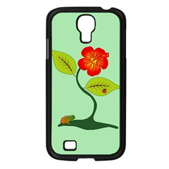 Plant And Flower Samsung Galaxy S4 I9500/ I9505 Case (black) by linceazul