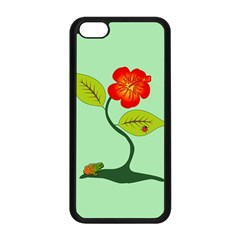 Plant And Flower Apple Iphone 5c Seamless Case (black) by linceazul