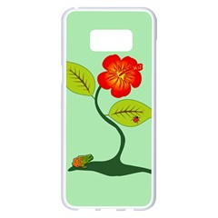 Plant And Flower Samsung Galaxy S8 Plus White Seamless Case by linceazul