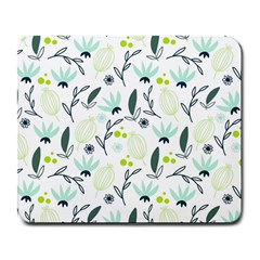 Hand Drawm Seamless Floral Pattern Large Mousepads by TastefulDesigns