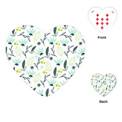 Hand Drawm Seamless Floral Pattern Playing Cards (heart)  by TastefulDesigns